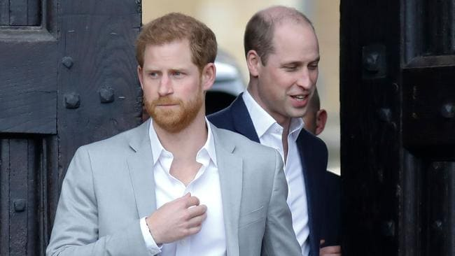 """The princes are on """"two different career paths."""" Picture: AFP"""