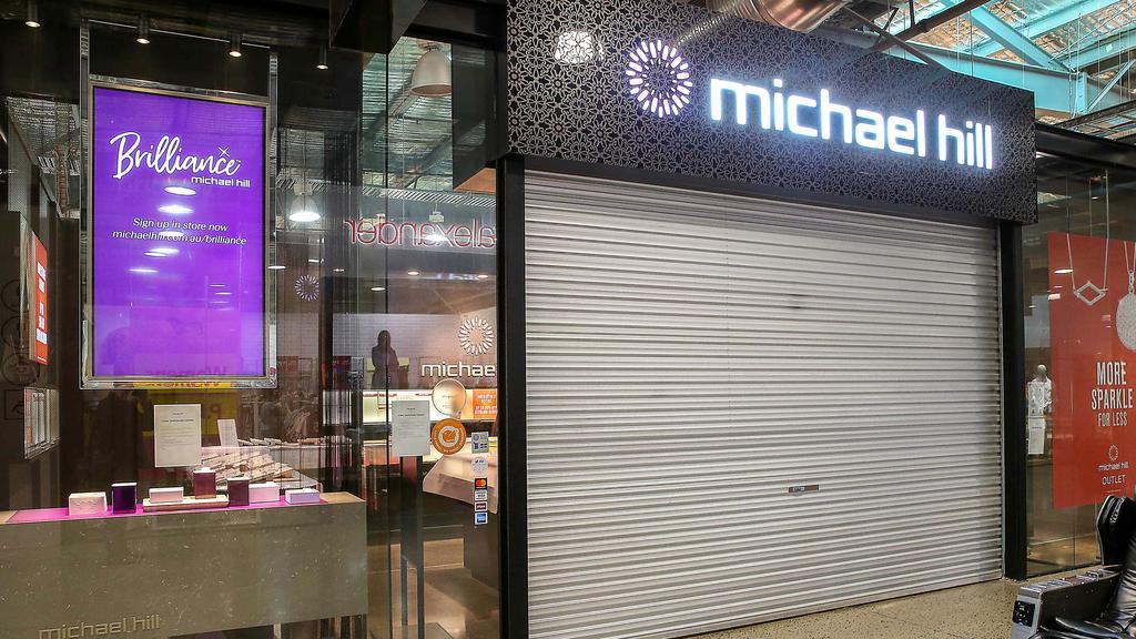 Michael Hill jewellery stores are closing indefinitely. Picture: Ian Currie