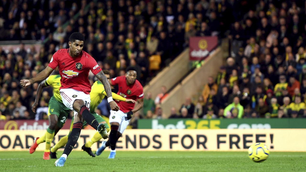 Rashford and Martial each netted but both missed VAR-awarded penalties.