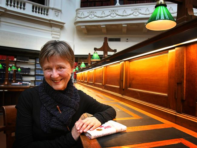 Author Helen Garner was notified of a prize which contained a large sum of money through email, which went to her junk folder. Picture: News Limited.