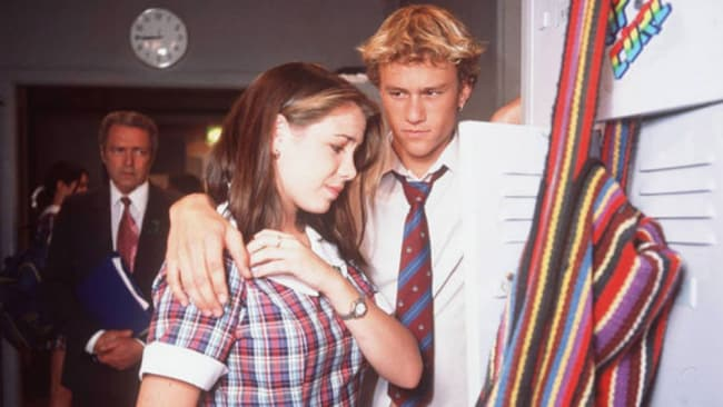 A teenage Ritchie in a scene from Home And Away with co-star Heath Ledger. Source: Instagram