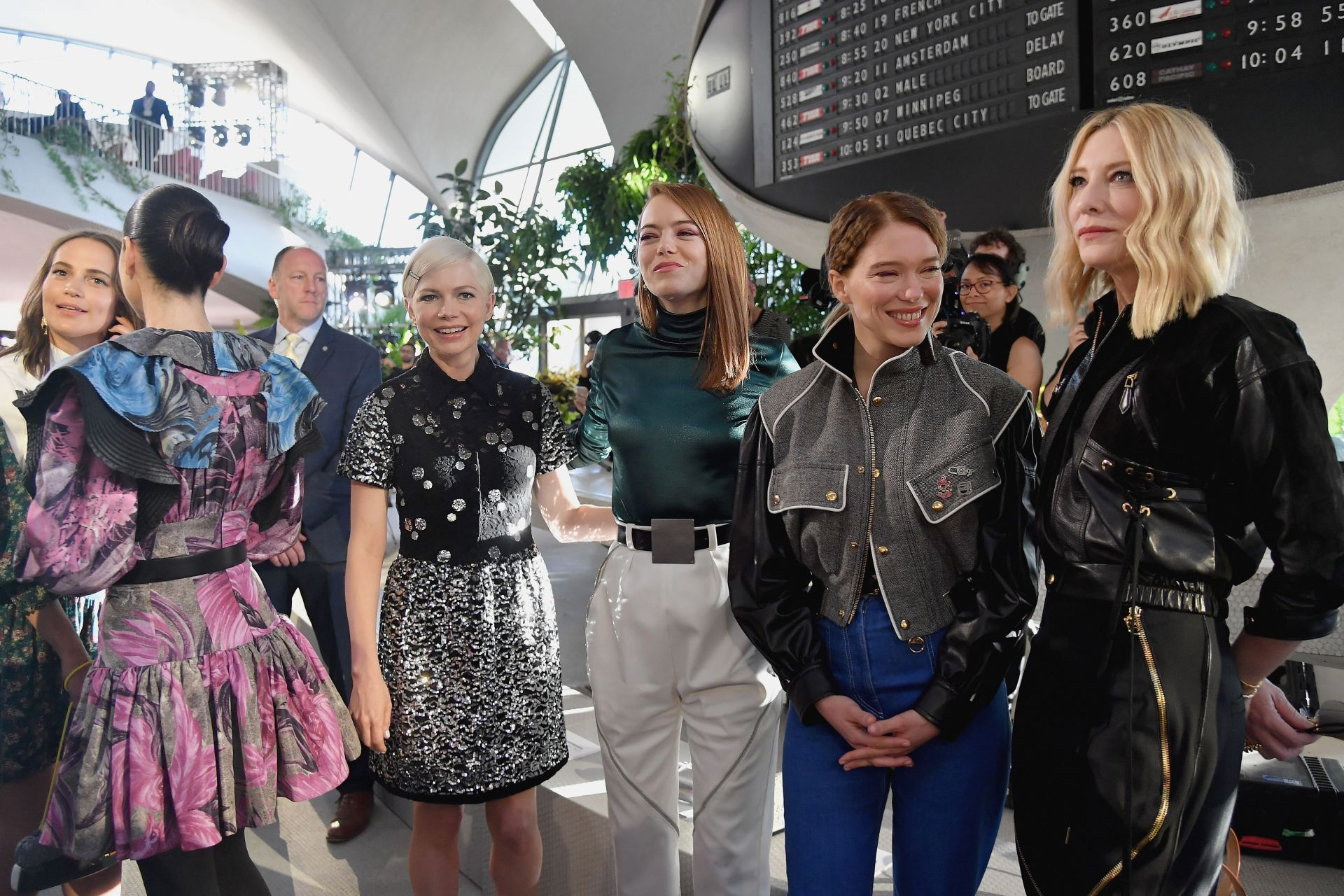 Michelle Williams, Emma Stone, Lea Seydoux and Cate Blanchett at the Louis Vuitton resort 2020 show. Image credit: Getty Images
