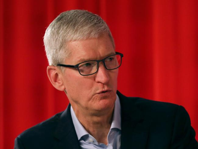 Apple CEO Tim Cook will address a conference tomorrow outlining Apple's move to new technology. Picture: Spencer Platt/Getty Images