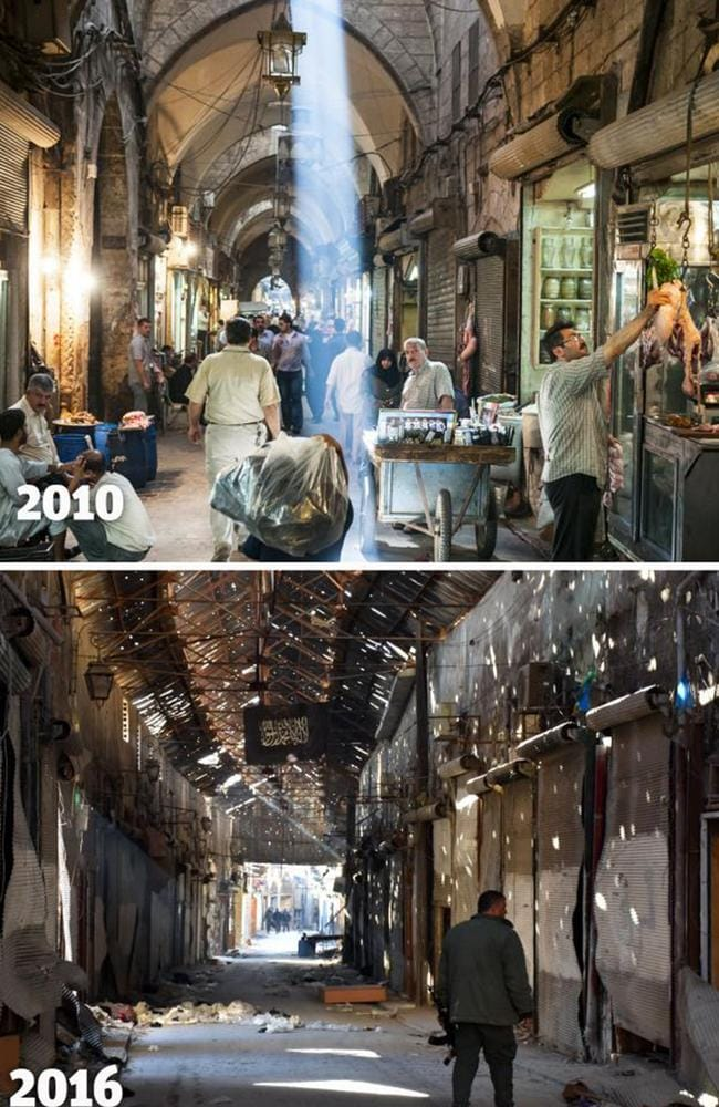 Syria 'before and after' photos reveal war's terrifying toll