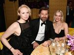Gwendoline Christie, Nikolaj Coster-Waldau and Emilia Clarke attend HBO's Official Golden Globe Awards After Party at Circa 55 Restaurant on January 7, 2018 in Los Angeles, California. Picture: AFP