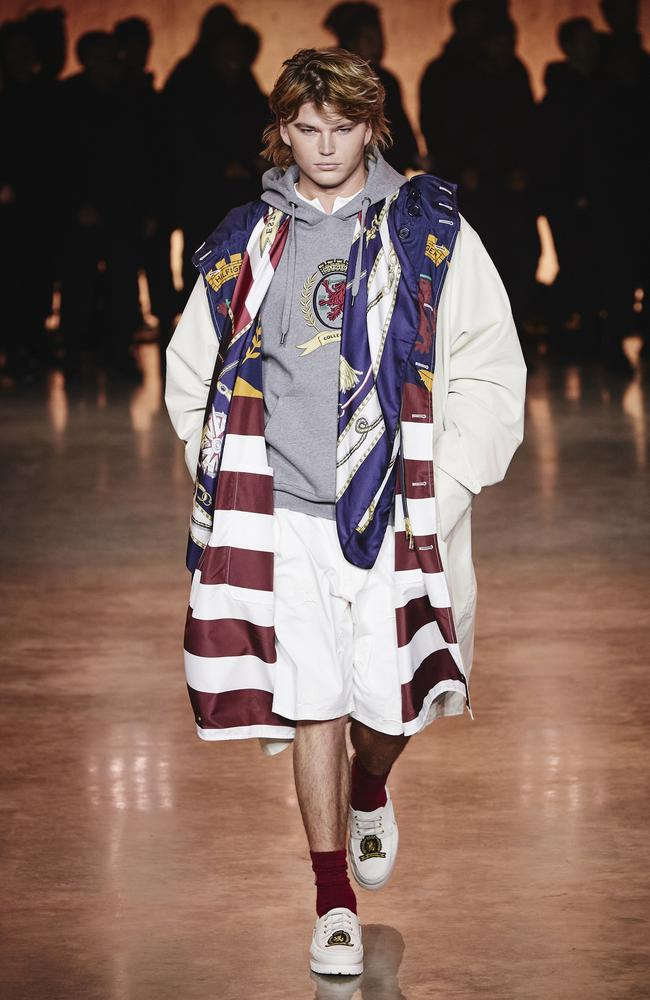 The Australian made a rare runway appearance for Tommy Hilfiger. Picture: Getty Images for Tommy Hilfiger