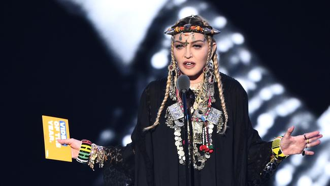 Madonna's Aretha Franklin tribute was a disaster. Picture: Getty Images for MTV