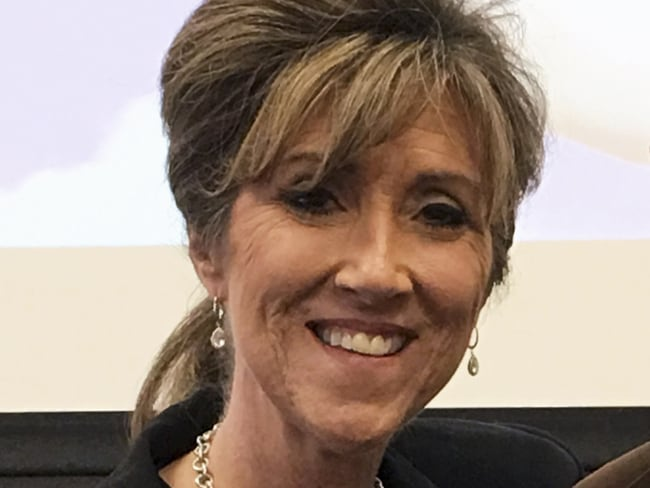 Tammie Jo Shults was one of the pilot's on the doomed plane. Photo: Kevin Garber/MidAmerica Nazarene University