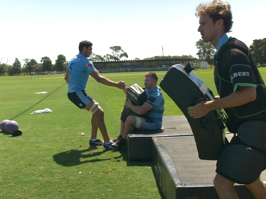 Foxsports.com.au's Christy Doran trains with the NSW Waratahs.