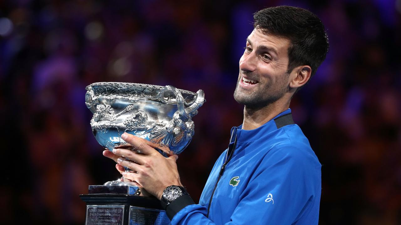 Novak Djokovic is favoured to win his eighth Australian Open. (Photo by Cameron Spencer/Getty Images)
