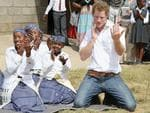 Prince Harry dances with deaf children during at visit to the Kananelo Centre for the deaf, a project supported by his charity Sentebale on February 27, 2013 in Maseru, Lesotho. Picture: Getty