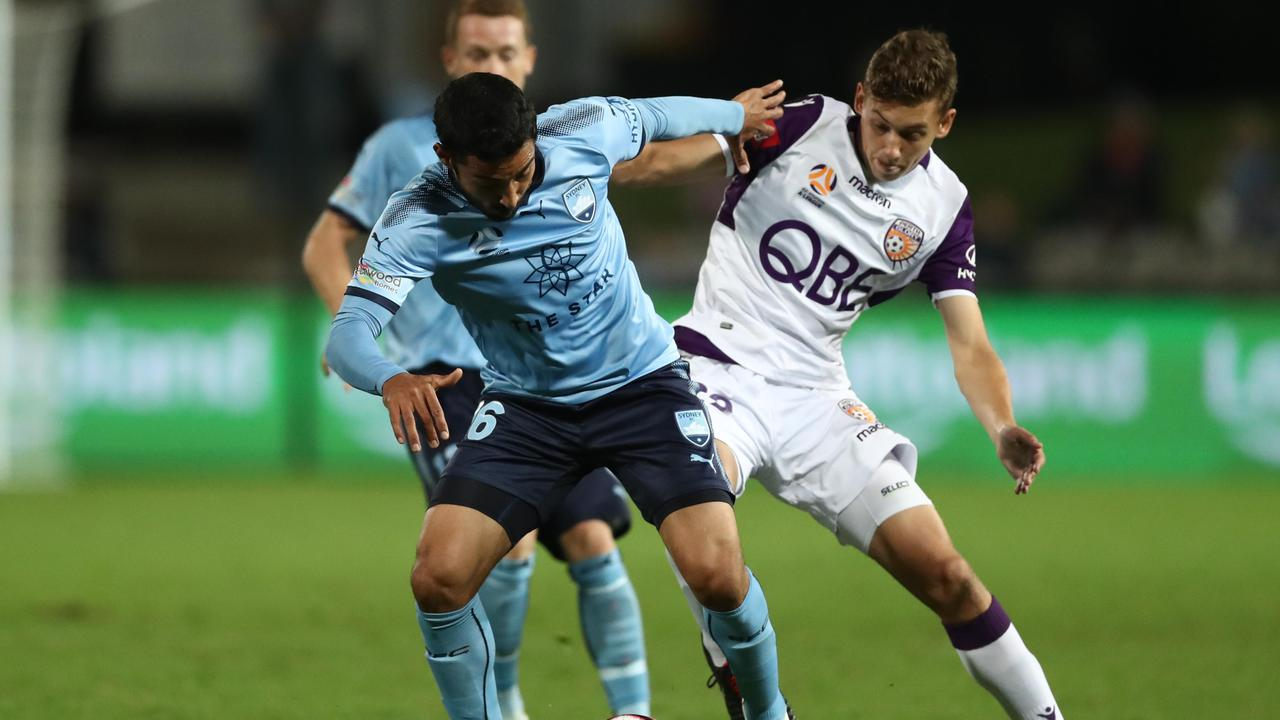 Sydney FC ended Perth's unbeaten record away from home this season.
