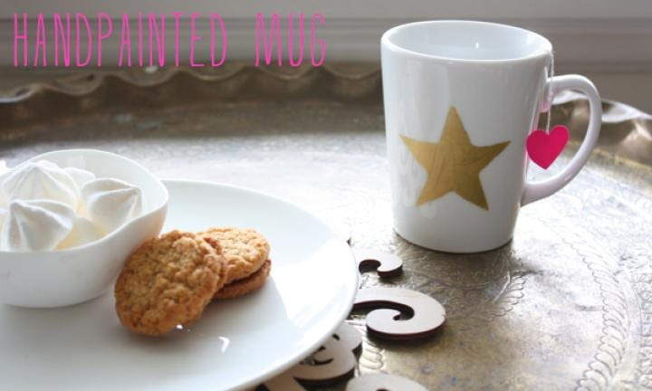 Last minute DIY gift idea: Hand-stencilled mug