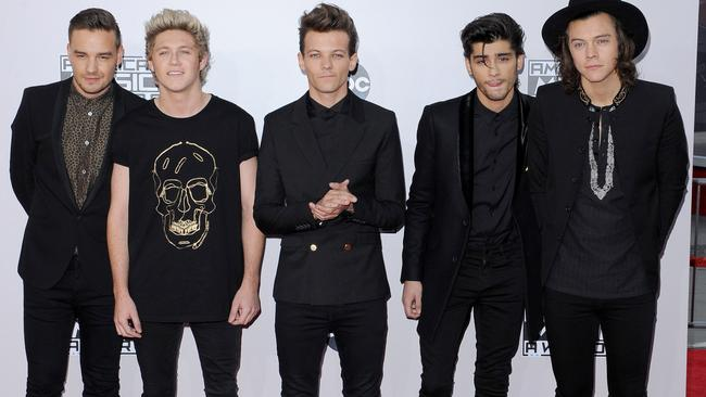 One Direction band members before their hiatus. Liam Payne, Niall Horan, Louis Tomlinson, Zayn Malik and Harry Styles. Picture: Axelle/Bauer-Griffin/FilmMagic