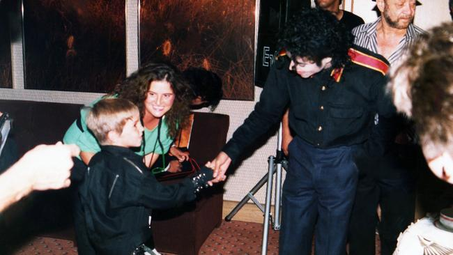 Robson's first meeting with Jackson. Picture: Dan Reed/HBO via AP