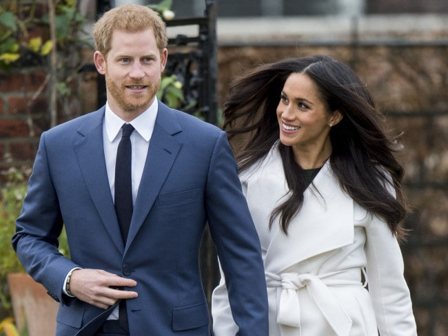 Meghan Markle's white trench coat sold out within hours. Photo: Mark Cuthbert/UK Press/Getty