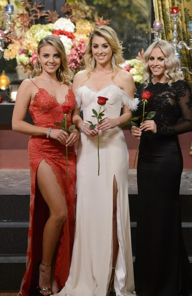 Your Bachelor top three: Olena Khamula, Alex Nation, and Nikki Gogan.