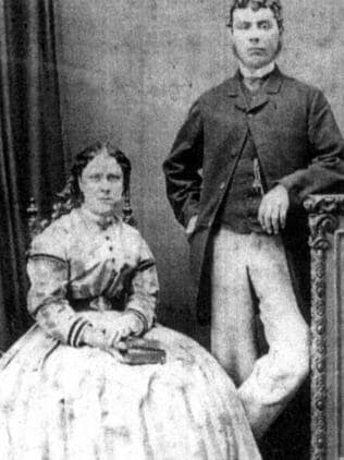 Annie Chapman with her husband John in an undated photo from the book Jack the Ripper. Picture: Supplied