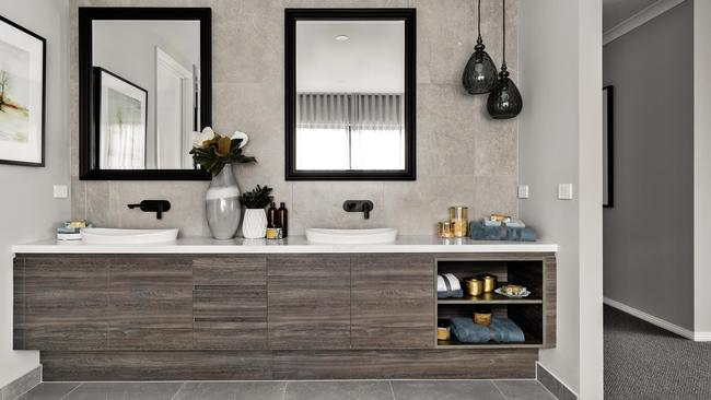 The ensuite continues the home's spacious theme.