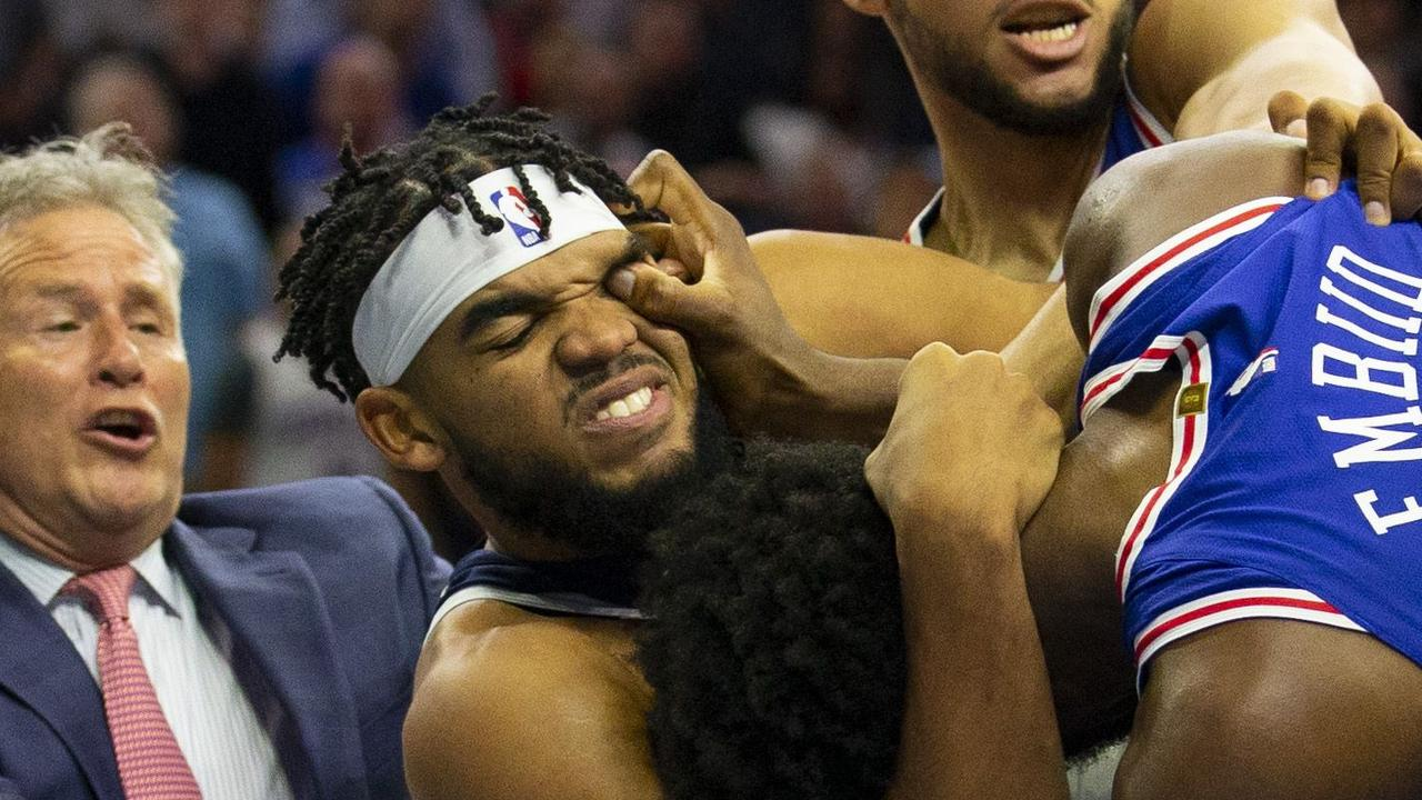 This poke in the eye could be problematic for Embiid.