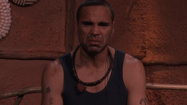 Anthony Mundine before his headline-making walkout. Picture: Channel 10