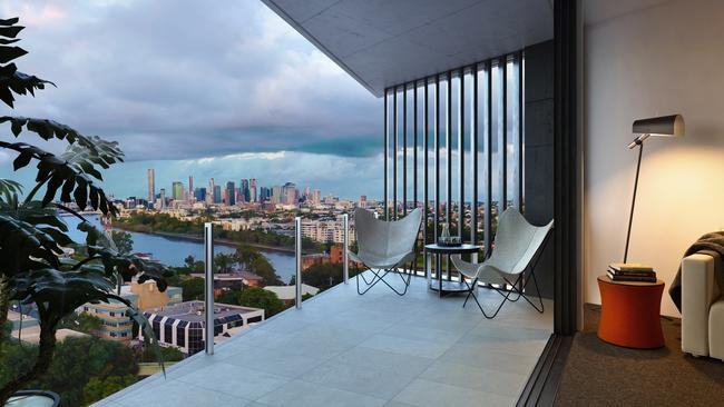 The view from an apartment at 38 High St, Toowong, which has had its price slashed.