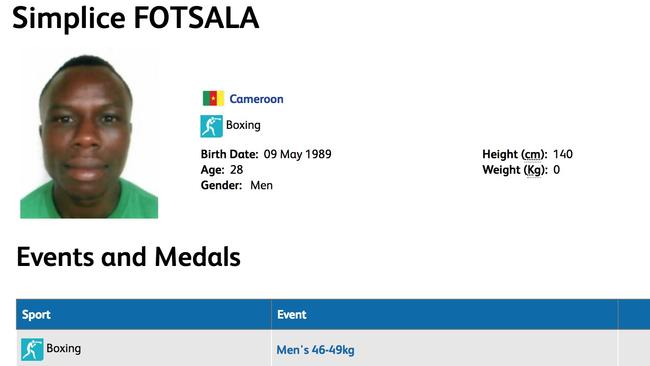 Cameroon's ID card for Simplice Fotsala.