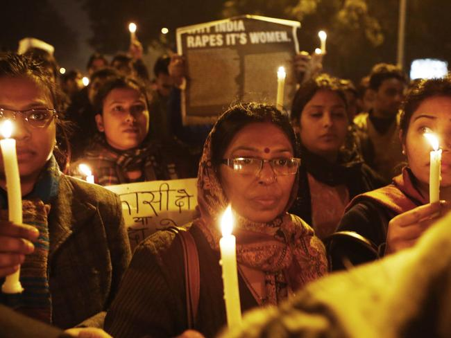 Public backlash ... The death of gang rape victim Jyoti in the Indian capital triggered an outpouring of grief and anger across India. Picture: AFP/ Andrew Caballero-Reynolds
