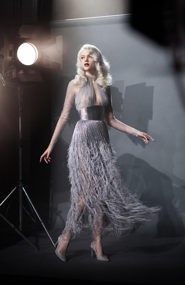Marlene from The Models stars in Paolo Sebastian's The Starlet campaign. Picture: Simon Cecere