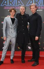 Pnau arrives on the red carpet for the 31st Annual ARIA Awards 2017 at The Star on November 28, 2017 in Sydney, Australia. Picture: AAP