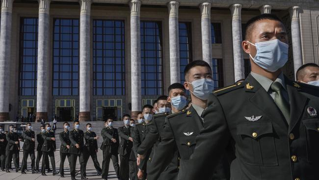 China's war of words is a common tactic used by nations who don't have the strongest army. Australia needs to adapt its mindset about what information warfare is. Picture: Kevin Frayer/Getty Images