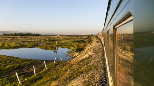 The view from the Trans-Mongolian express. Photo: Supplied