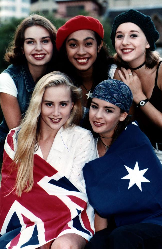 Girl power: Girlfriend flying the flag in their heyday. Picture: News Corp