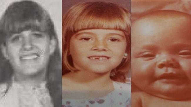 Marlyse Elizabeth Honeychurch, 24, and daughters Marie Elizabeth Vaughn, 6, and Sarah Lynn McWaters, 1. Picture: New Hampshire State Attorney's Office