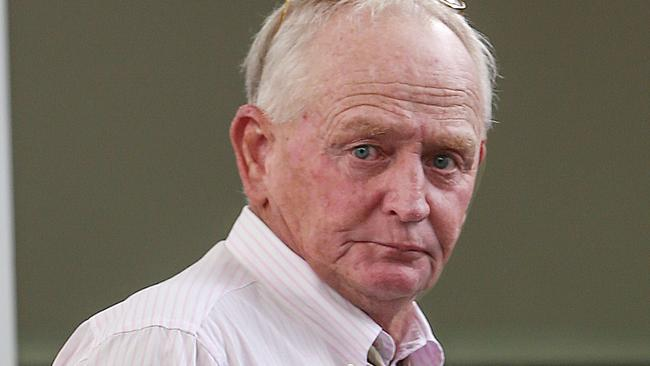 Wodonga horse trainer Brian Cox at the VRC headquarters in Flemington. Picture: Ian Currie