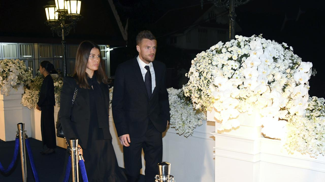 Jamie Vardy was one of several players who travelled to Thailand to pay respects to Srivaddhanaprabha.