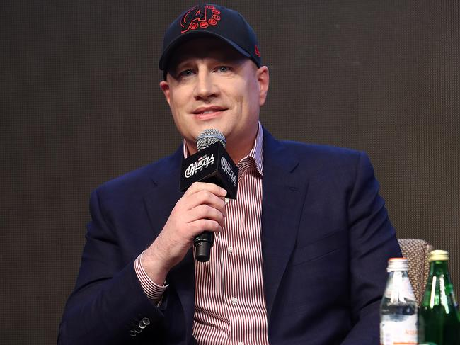Kevin Feige confirmed various details about the numerous forthcoming Disney+ TV series. Picture: Chung Sung-Jun/Getty Images