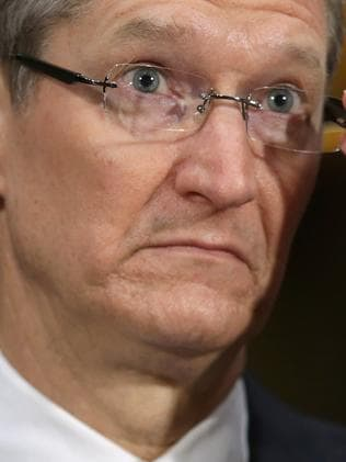 Timothy Cook's Apple is also a member of the $US1 trillion club. Picture: AFP