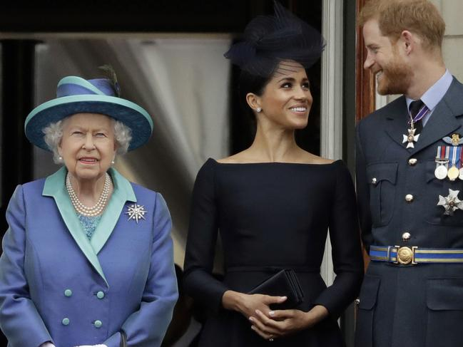 Meghan and Harry have been granted approval to split from his family. Picture: Matt Dunham/AP