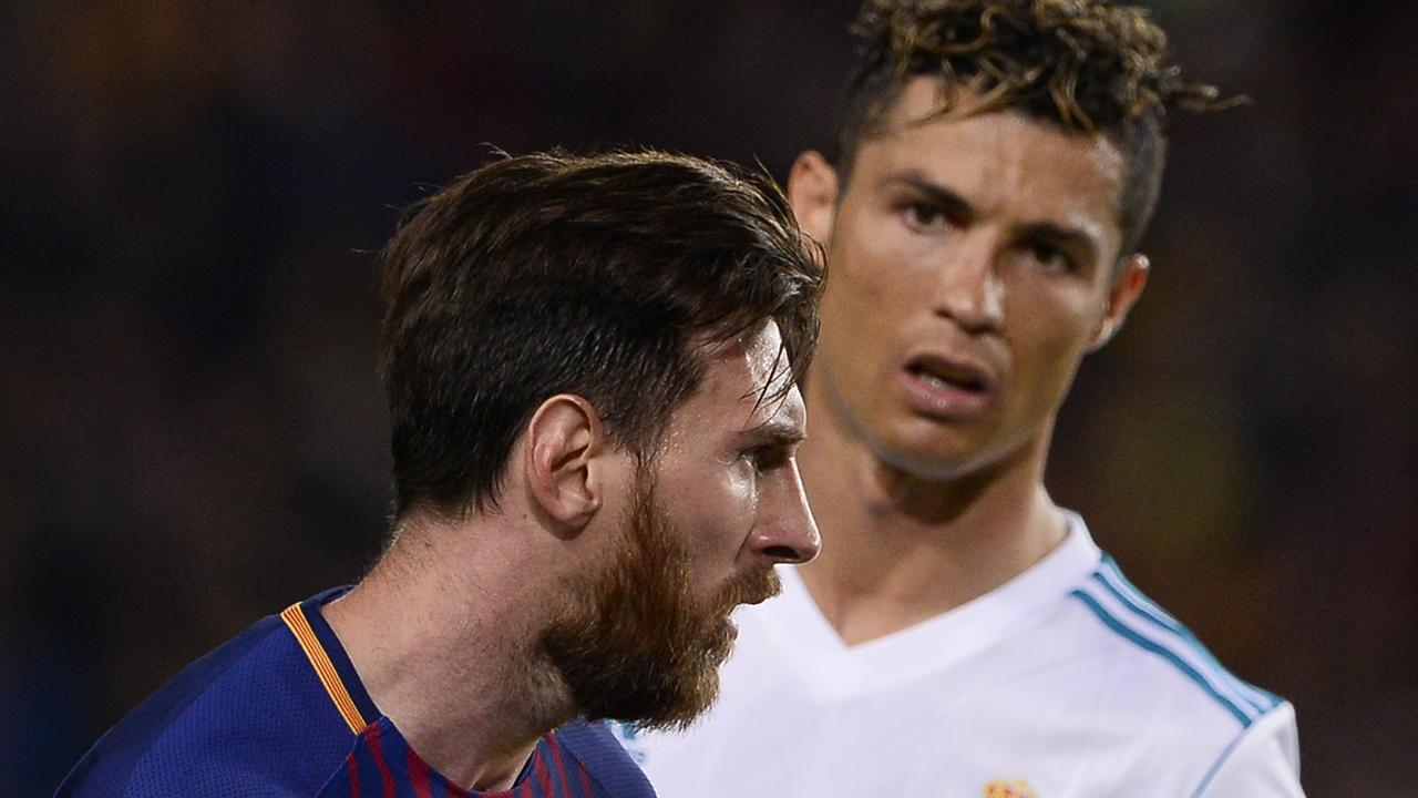 How we imagine Cristiano Ronaldo (R) responded to news Messi pipped him for the number two spot on the Forbes list of highest-earning athletes of 2018.