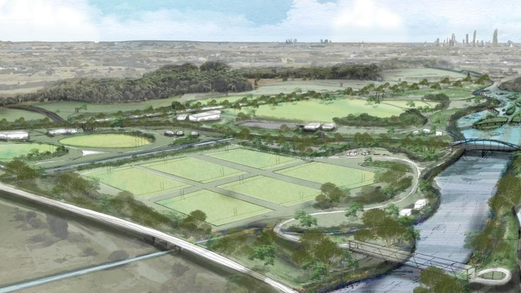 Artist impression of Greenheart, the Gold Coast's new proposed parklands between Robina and Merrimac.