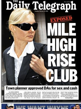 The Beth Morgan scandal was front page news.