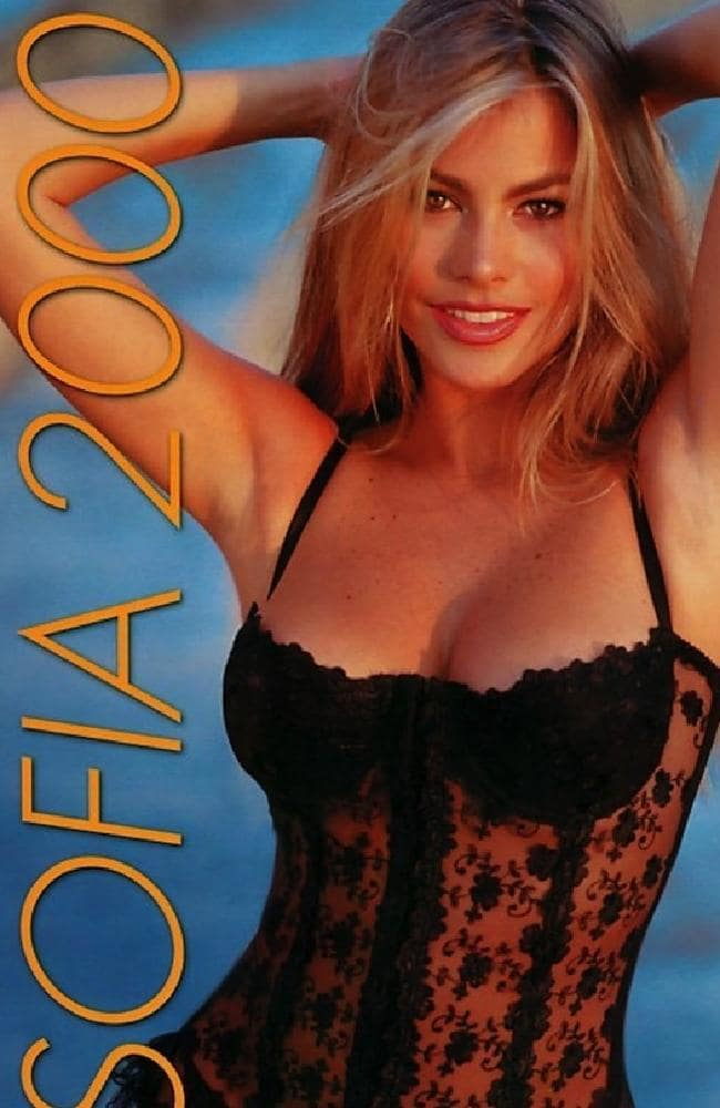 One of Sofia Vergara's first forays into print work was with a calendar she and Luis Balaguer... [+] printed in the 1990s. (Courtesy of Latin World Entertainment)