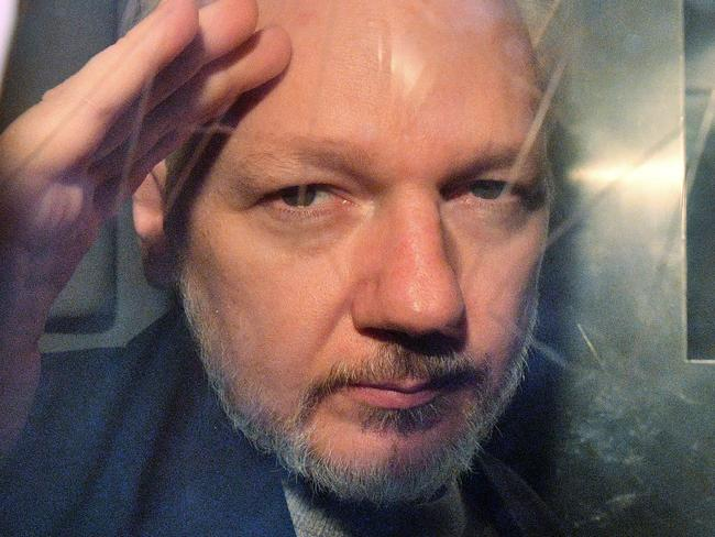 WikiLeaks founder Julian Assange has begun his fight to avoid extradition to the US at Westminster Magistrate's Court. Picture: Daniel Leal-Olivas / AFP