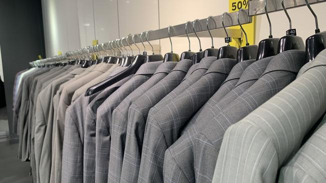 In the weeks leading up to Topshop's closure in Australia there were bargains to be had – on really boring grey suits. Picture: news.com.au/Benedict Brook.