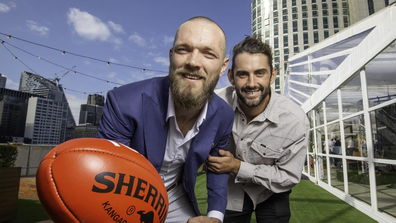 Max Gawn and Brodie Grundy at Fox Footy's 2020 launch party