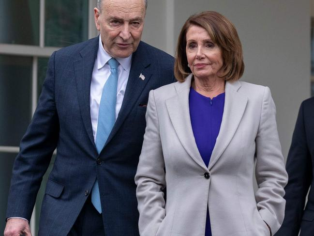 House Speaker Nancy Pelosi and Senate Minority Leader Chuck Schumer will address the nation immediately after Mr Trump, arguing that a wall is unnecessary and wrong. Picture: Alex Edelman/AFP