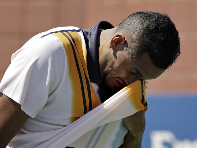 Not everything always goes Kyrgios's way.