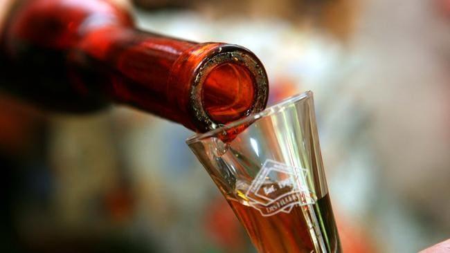 Sampling the product at Tamborine Mountain Distillery.