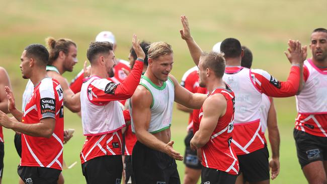 Jack de Belin hasn't been a negative at Dragons training, according to teammates.